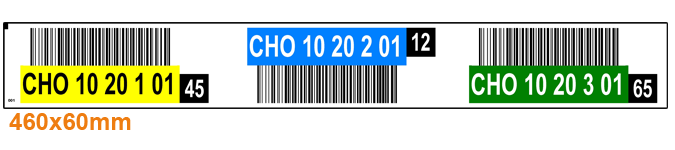 ONE2ID magazijnlabel barcodes kleur controlegetal