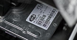 ONE2ID typeplaatje automotive component id