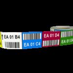 ONE2ID magazijnlabels barcode labels met kleurcodering stellingen