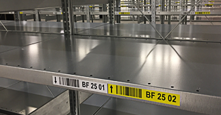 ONE2ID warehouse labels order pick racking