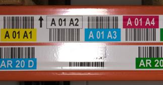ONE2ID magazijnlabels met mat laminaat