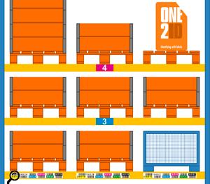 ONE2ID magazijnlabels met kleur hoogte