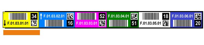 ONE2ID Regaletiketten-Farbcodierung-Prüfzahlen Pick by Voice