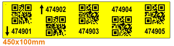 ONE2ID Regaletiketten Lagerhaus 2D-QR-Code