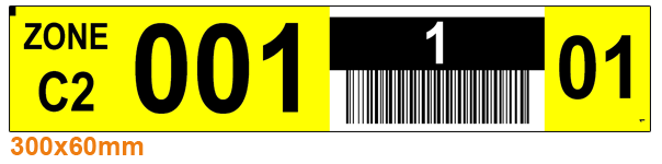 ONE2ID Strichcode Etiketten Regale