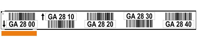 ONE2ID Lageretiketten mit Strichcode Palettenregale