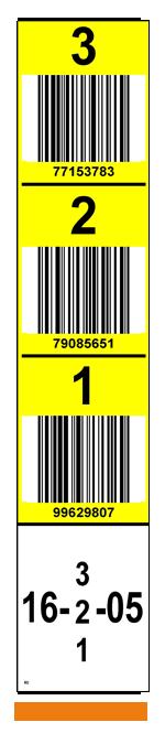 ONE2ID Vertikale Palettenregaletiketten Regalständer