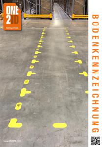 ONE2ID Broschüre Bodenkennzeichnung Bodenmarkierung