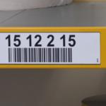 ONE2ID Lagerregaletiketten mit Strichcode