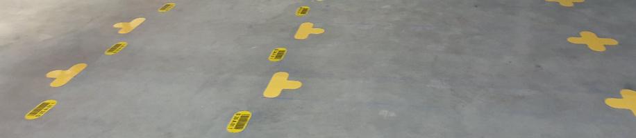 ONE2ID Bodenkennzeichnung Bodenschilder Bodenrahmen Lageretiketten
