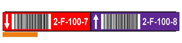 ONE2ID Etiketten für Kommissionierung Lagerregaletiketten