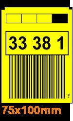 Gelbe Lagerregaletiketten ONE2ID