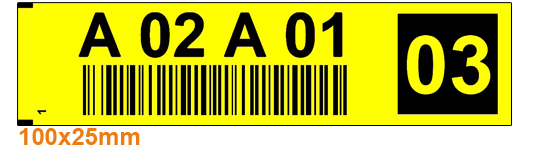 ONE2ID Kommissionier Etiketten Regaletiketten