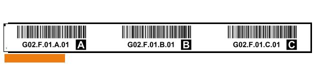 ONE2ID Lagerplatz Etiketten Regaletiketten mit Barcode