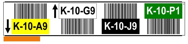 ONE2ID Lagerregaletiketten Hochregallager