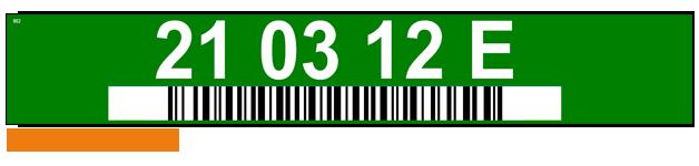 ONE2ID Regaletiketten Lageretiketten mit Farben und Strichcode