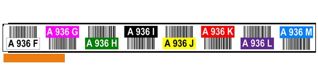 ONE2ID Multilevel Regaletiketten Lageretiketten mit Farcodierung