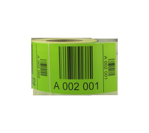 ONE2ID Palettenetiketten mit aufsteigenden Seriennummern