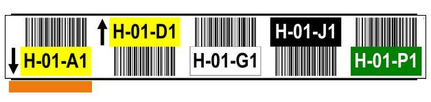 ONE2ID Lagerkennzeichning Hochregallager Lageretiketten
