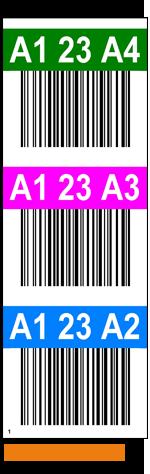 ONE2ID Lageretiketten Lagerregalständer mit Farben
