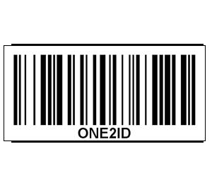 ONE2ID Barcode 128 Strichcode erstellen