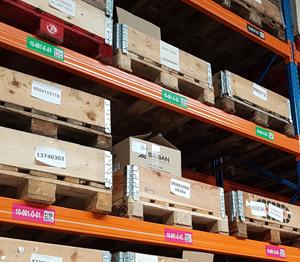 ONE2ID Barcode-Etiketten Höhenfarben Lagerplatz-Etiketten