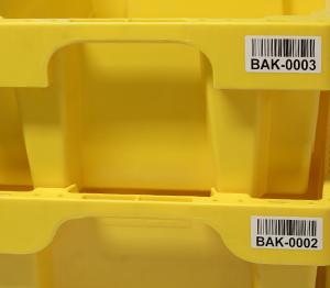 ONE2ID Barcode-Etiketten Kisten Karren Wagen