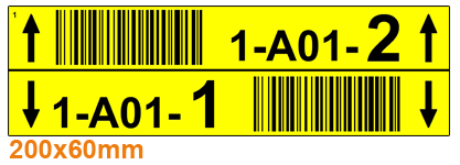 ONE2ID Barcode-Etiketten Multilevel Regaletiketten