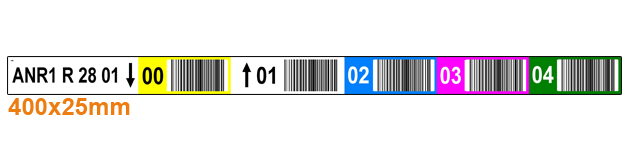 ONE2ID Barcode-Etiketten für Standorte