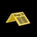 ONE2ID Barcode-Schilder V-Schild