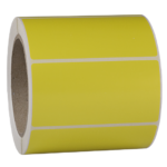 ONE2ID Blanko-Etikett Polyester gelb