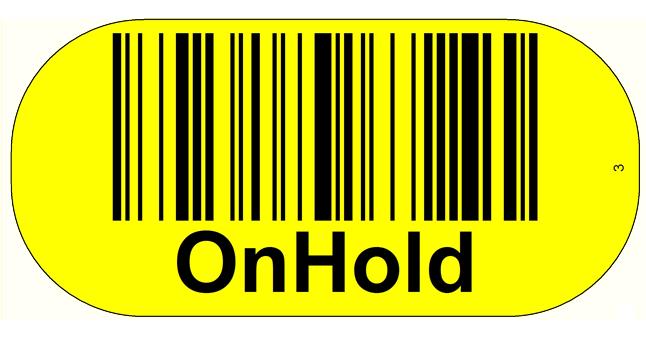 ONE2ID Blocklagerschilder Bodenetikett Bodenkennzeichnung