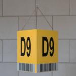 ONE2ID Blocklagerschilder mit reflektierendem Etikett für Fern-Scannen