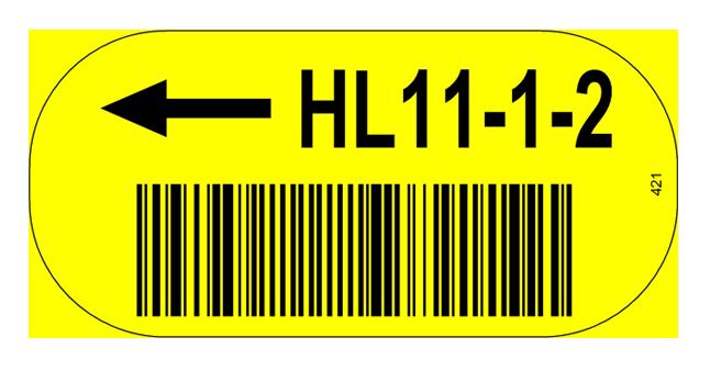 ONE2ID Bodenetikett Bodenkennzeichnung