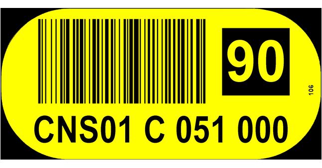 ONE2ID Bodenetikett mit Prüfziffern