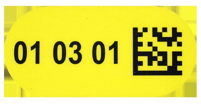 ONE2ID Bodenetiketten mit DataMatrix Code