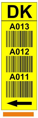 ONE2ID Durchflussregale Barcode-Etiketten