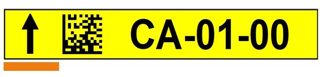 ONE2ID Etikett mit DataMatrix Code