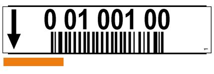 ONE2ID Etiketten Kommissionierung weiß mit Pfeil und Barcode
