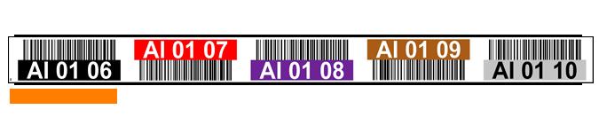 ONE2ID Etiketten Regale