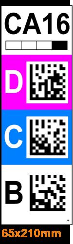 ONE2ID Etiketten mit DataMatrix Code für Regaldurchfahrten