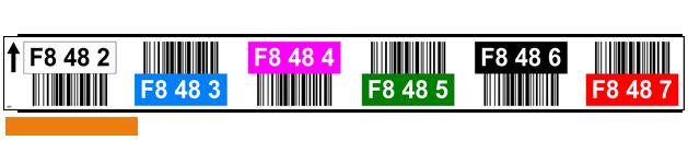 ONE2ID Farbcodierte Barcode-Etiketten