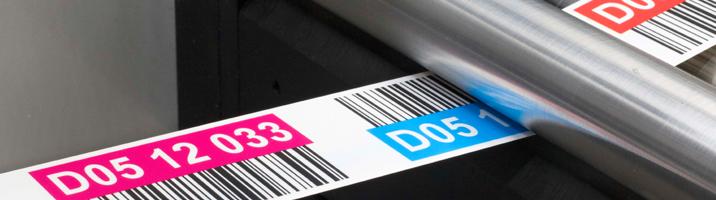 ONE2ID Farbcodierte Barcode Etiketten für Hochregallager