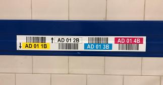ONE2ID Farbcodierte Lagerplatzetiketten