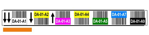 ONE2ID Farbcodierte-Regaletiketten-mit-Pfeile