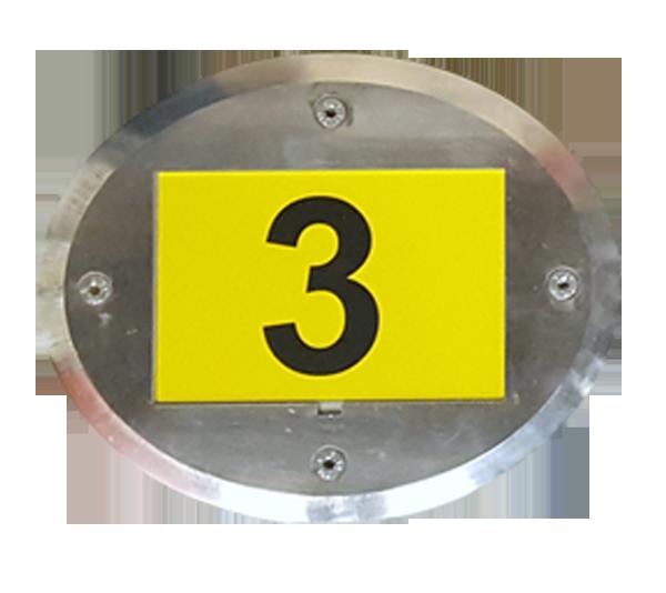ONE2ID Floor Frame Oval mit Etikett Bodenrahmen