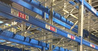 ONE2ID Hochregallager Etiketten mit Höhenfarben