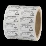 ONE2ID Industrielle Polyester-Etiketten Piktogramm-Etiketten