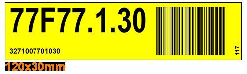 ONE2ID Kommissionier Etikett Barcode-Etiketten