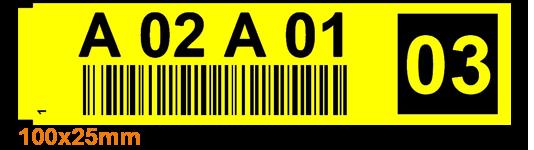 ONE2ID Kommissionier-Etiketten-Regaletiketten